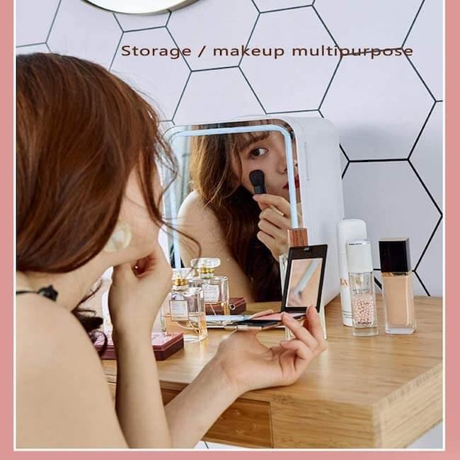 beauty fridge para productos de belleza amazon