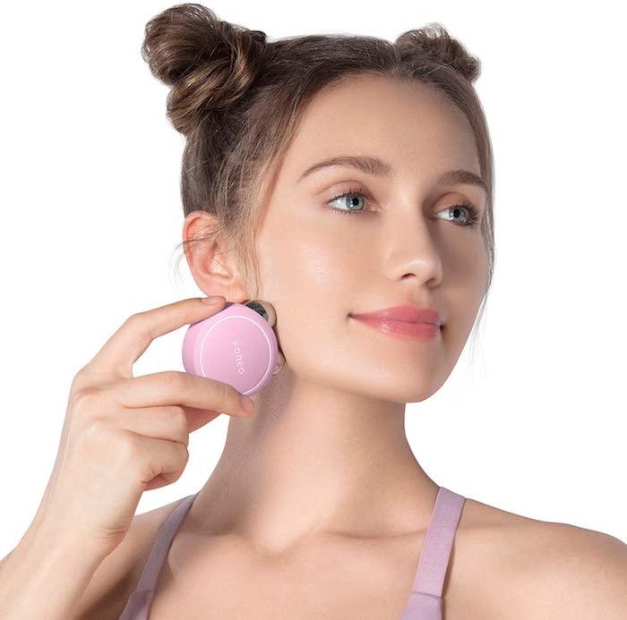 radiofrecuencia facial en casa foreo bear mini rosa